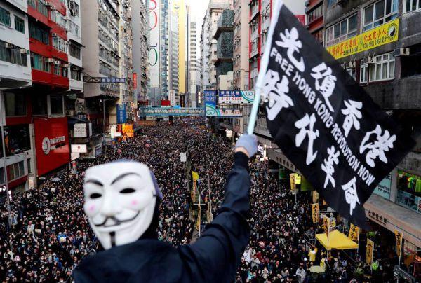 manifestação Hong Kong